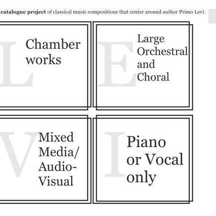 Created: Levi Musical Catalogue
