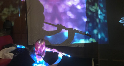 Projection Designer: Live-Reacting Visuals to Flute