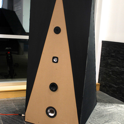 "Designed & Built: Voice pyramid installation ""Motet for Loudspeaker and Performer"""