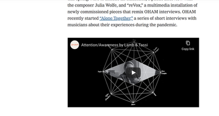 NY Times: Audiovisual Composition