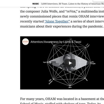 NY Times: Audiovisual Composition