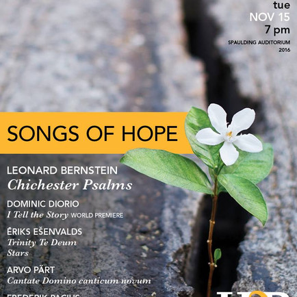 Soloist in: Handel Society's Chichester Psalms