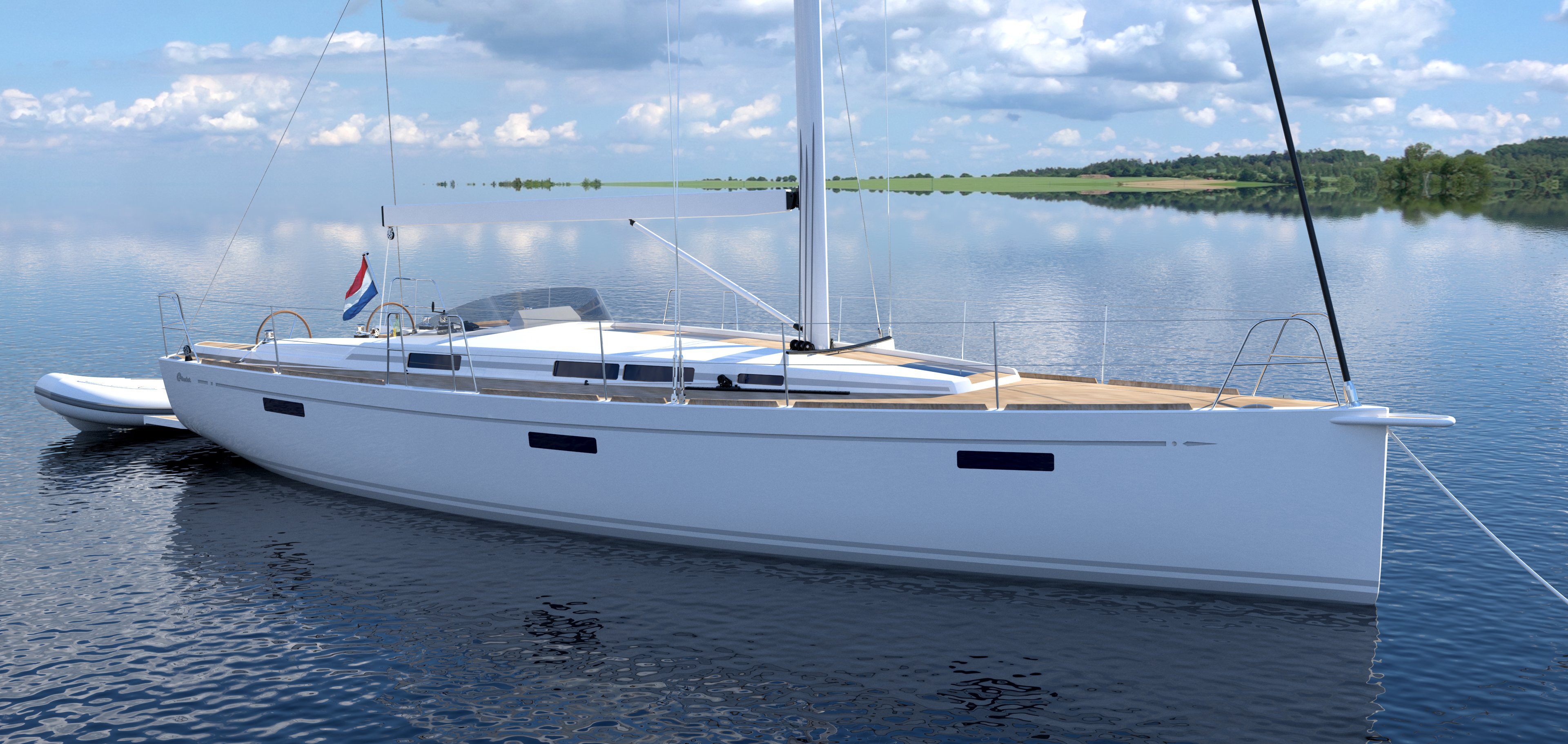 C-Yacht 42-47 white with gray trim