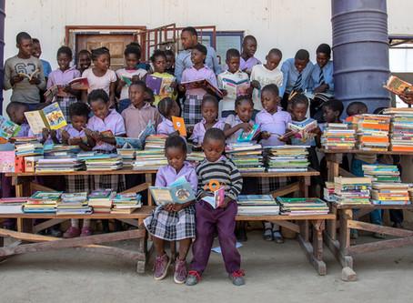 Books & pencil cases for Zambian children.