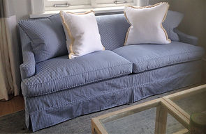 Classic Blue and White Stripe Loose Covers