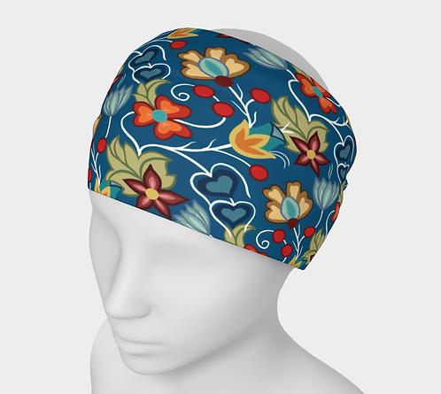 Floral Headband Blue