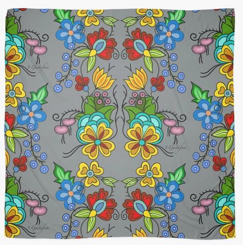 Floral Scarf (Grey)