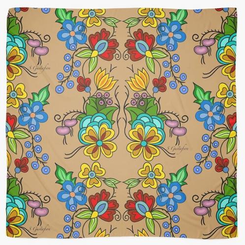 Floral Scarf (Beige)