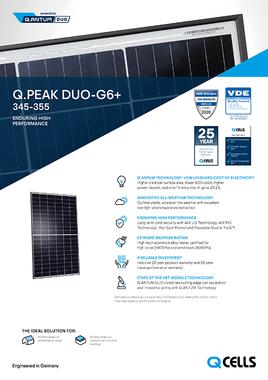 Q Cells -Q.Peak DUO G6+ - Data Sheet