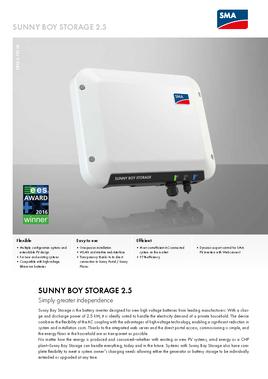 SMA - Sunny Boy Storage 2.5 Data Sheet