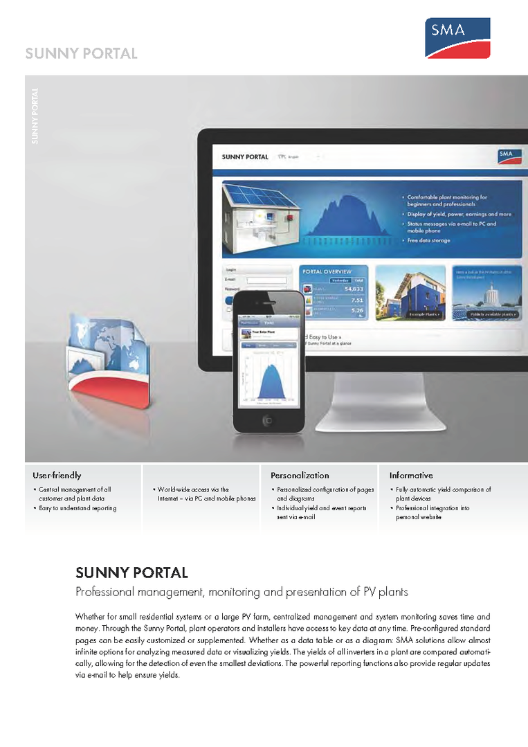 SMA - Sunny Portal - Data Sheet