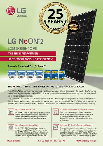 LG NeON 2 350W Data Sheet