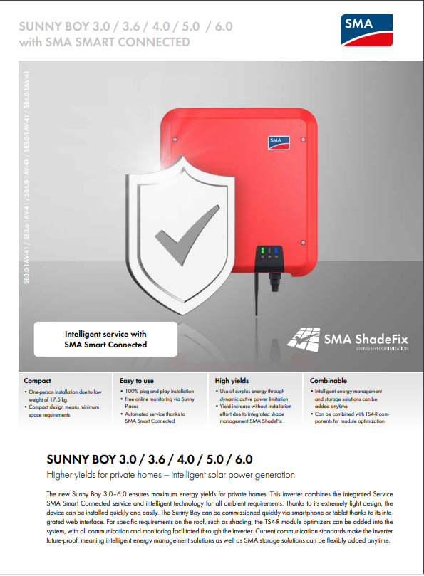 SMA - Sunny Boy Inverter Data Sheet