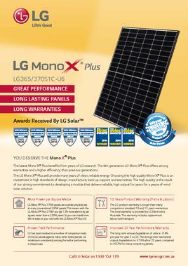 LG Mono X Plus 370W Data Sheet
