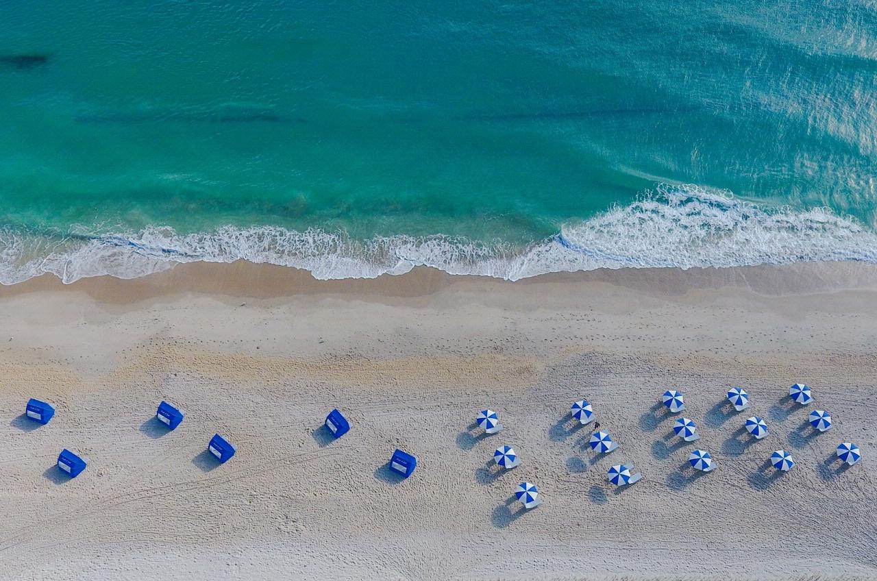 Arial of beach