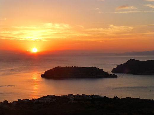sunrise in crete island sunset