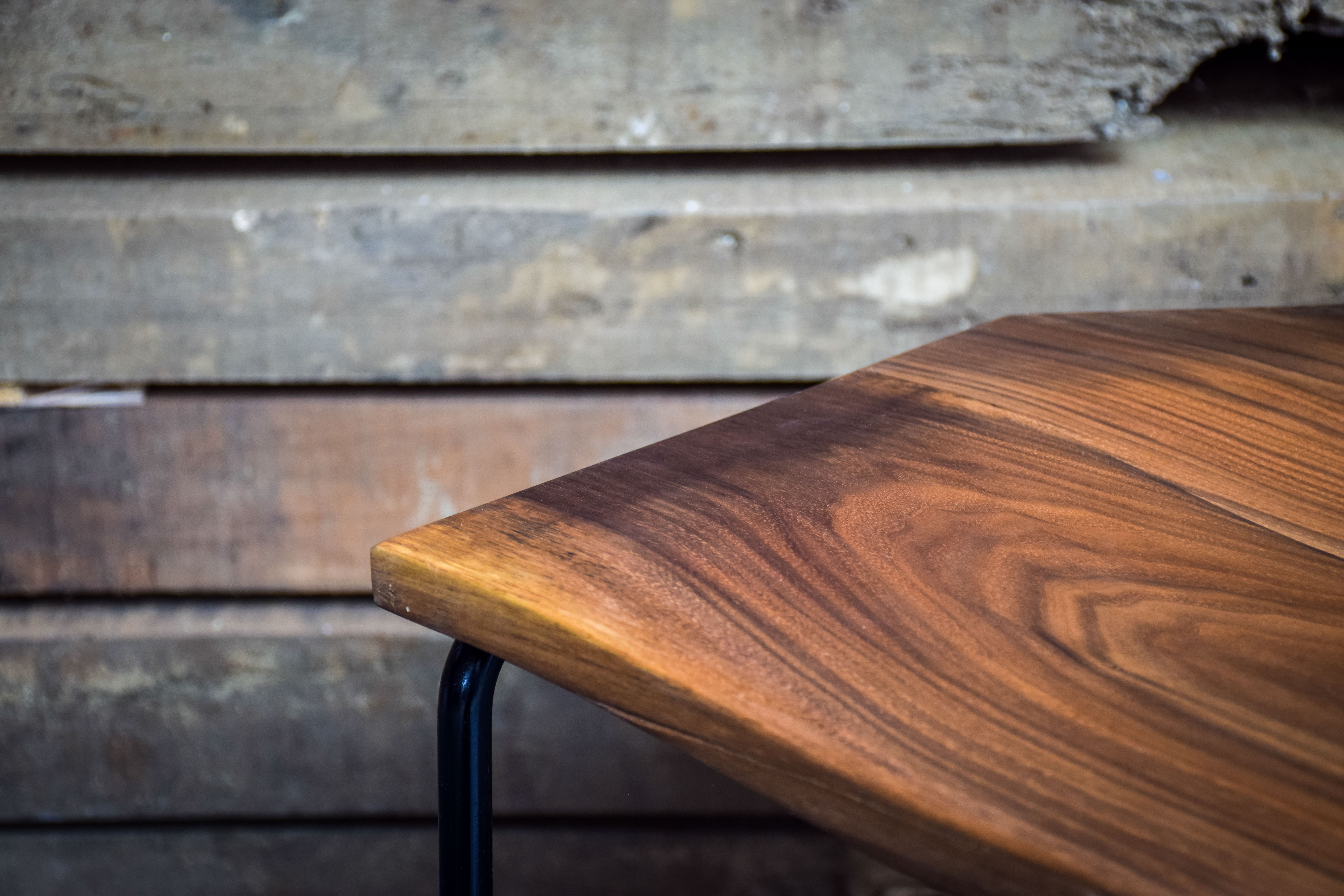 Neptune Walnut stool