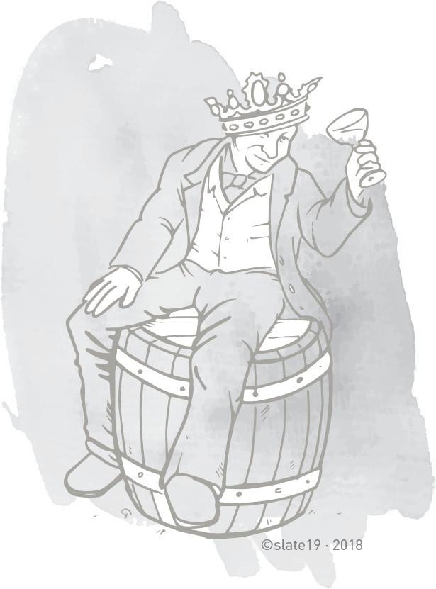 wine prince sketch / illustration