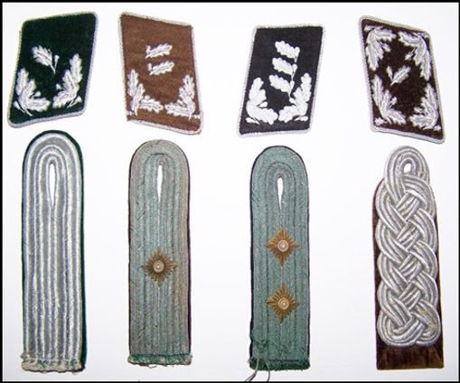 Shoulder boards and the matching collar