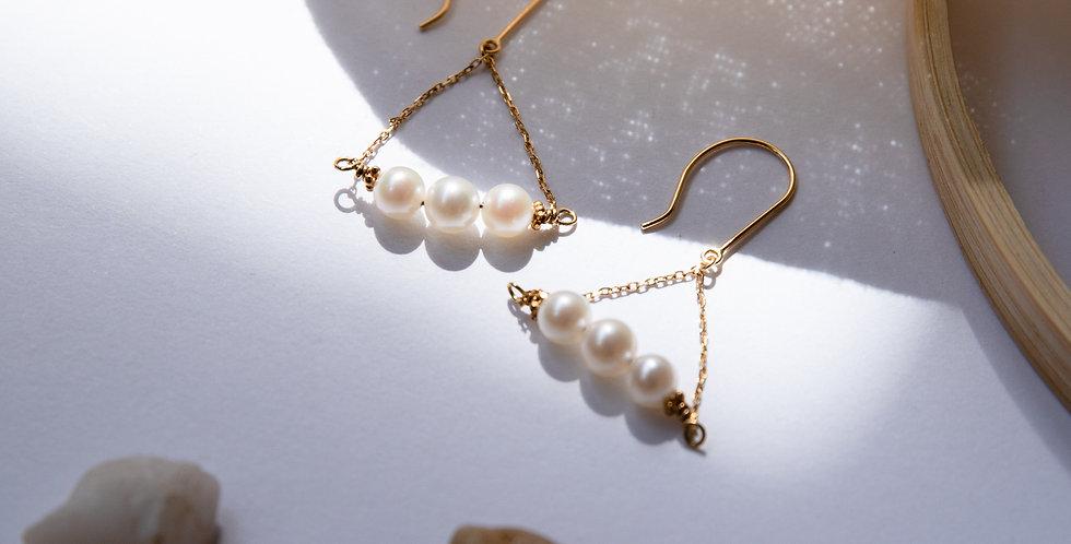 Poetic Pearl Earrings - Blanco