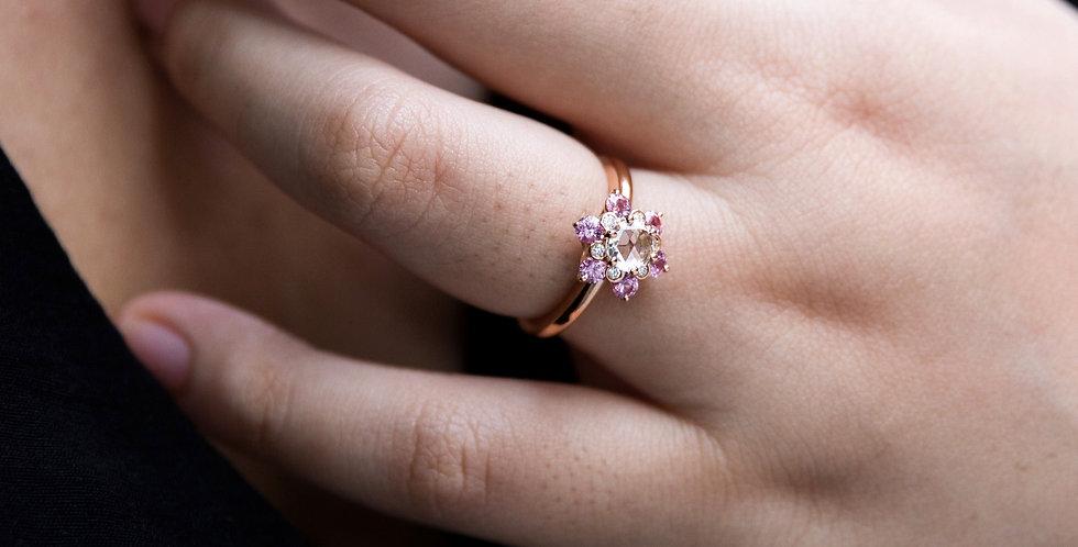 Matowa Ring - Pink Sapphire