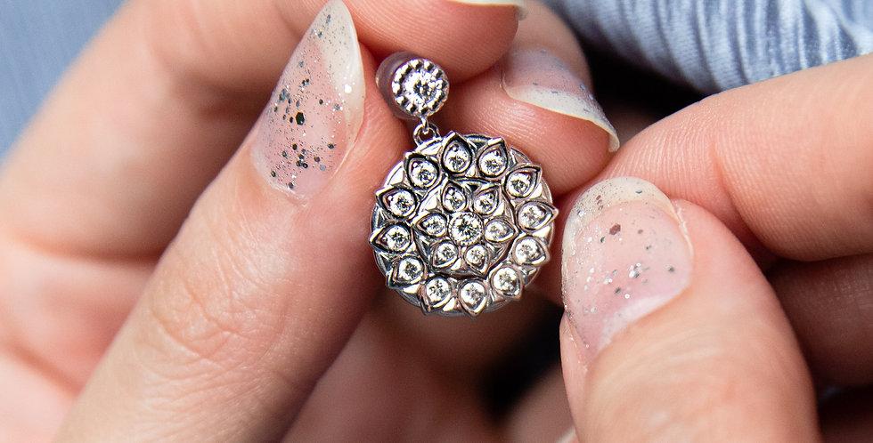Medallion Earrings - Diamond