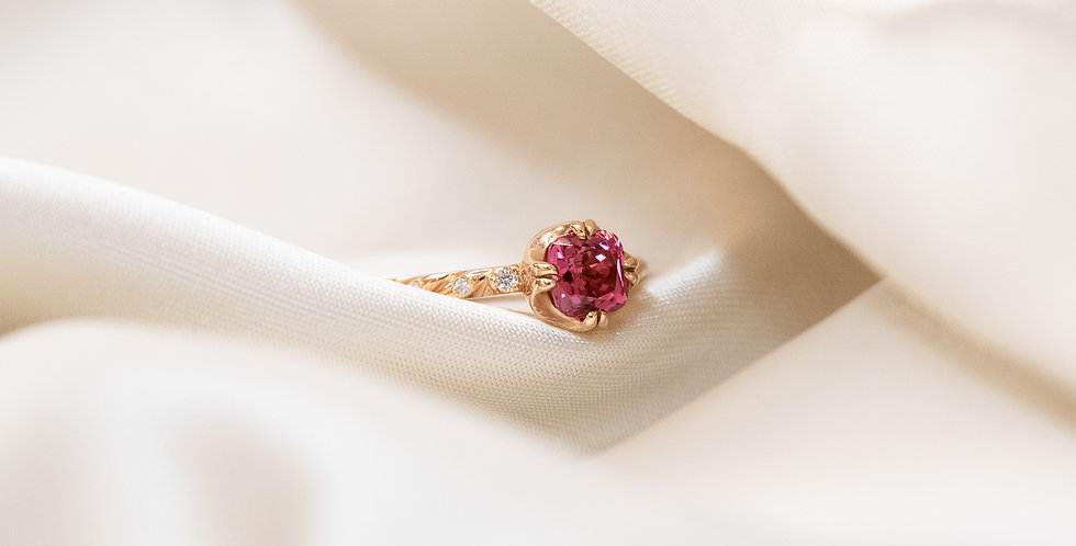 Cuscino Ring - Pink Spinel