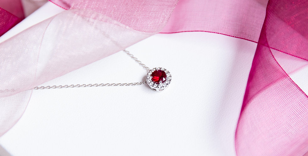 Pigeon's Blood Ruby Necklace