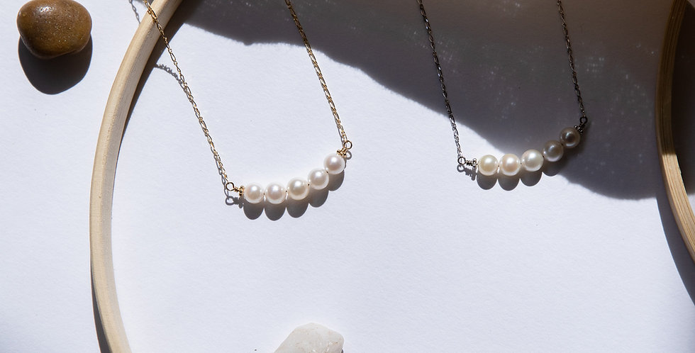 Poetic Pearl Necklace - Blanco