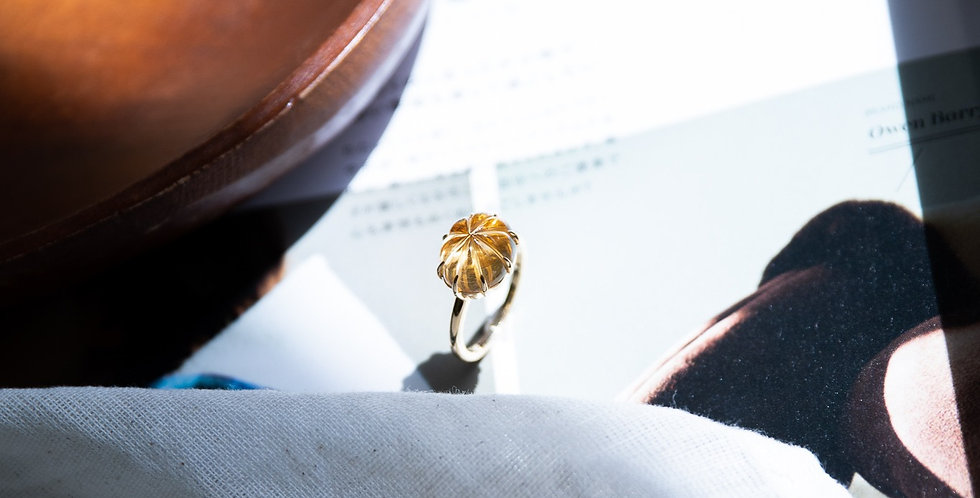 Carved Citrine Ring