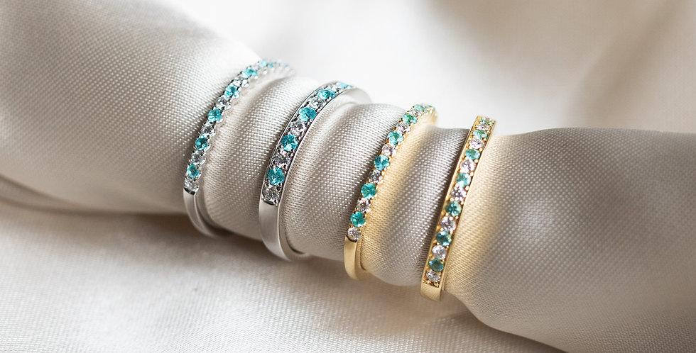 Paraiba Tourmaline Band Ring