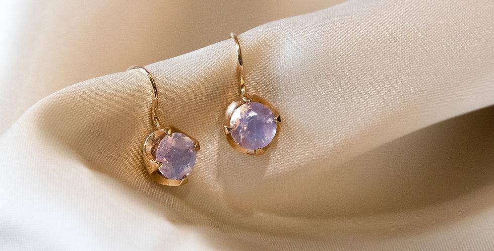 Camellia Earrings - Milky