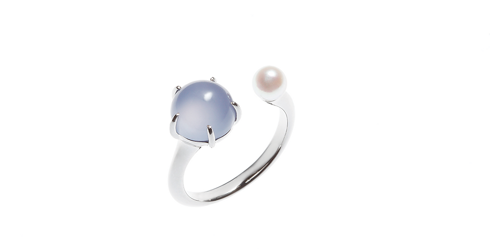 and Pearl Ring - Cabochon