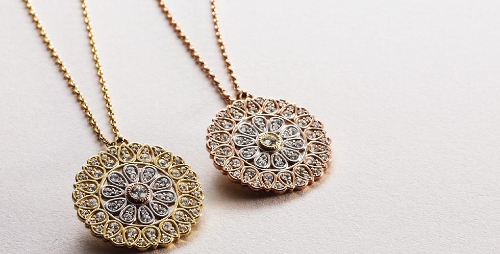 Medallion Necklace - Diamond