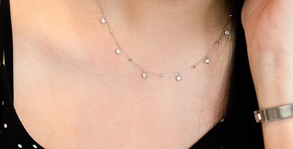 Station Necklace - Diamond