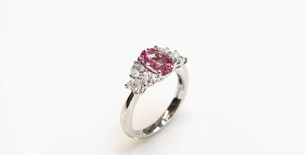 Padparadscha Sapphire OV Ring