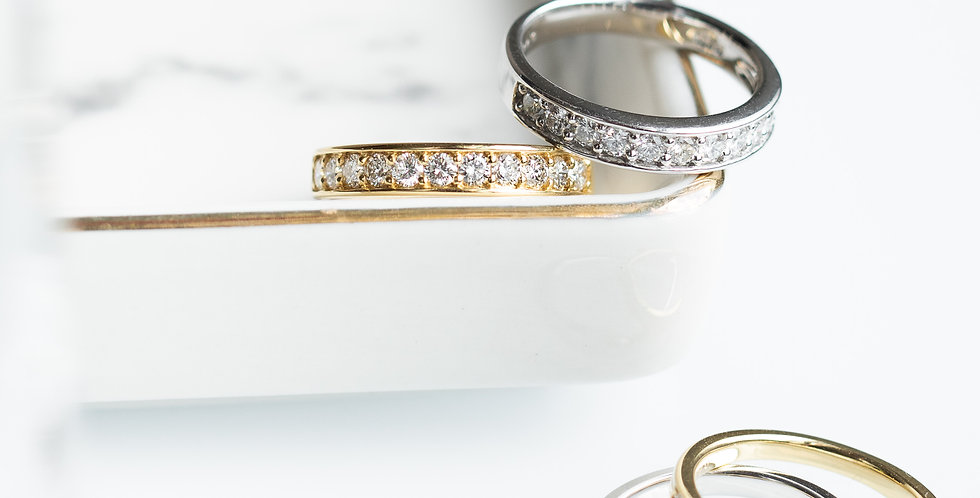 Rail Diamond Band Ring