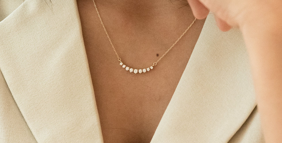 Line Necklace - Crown