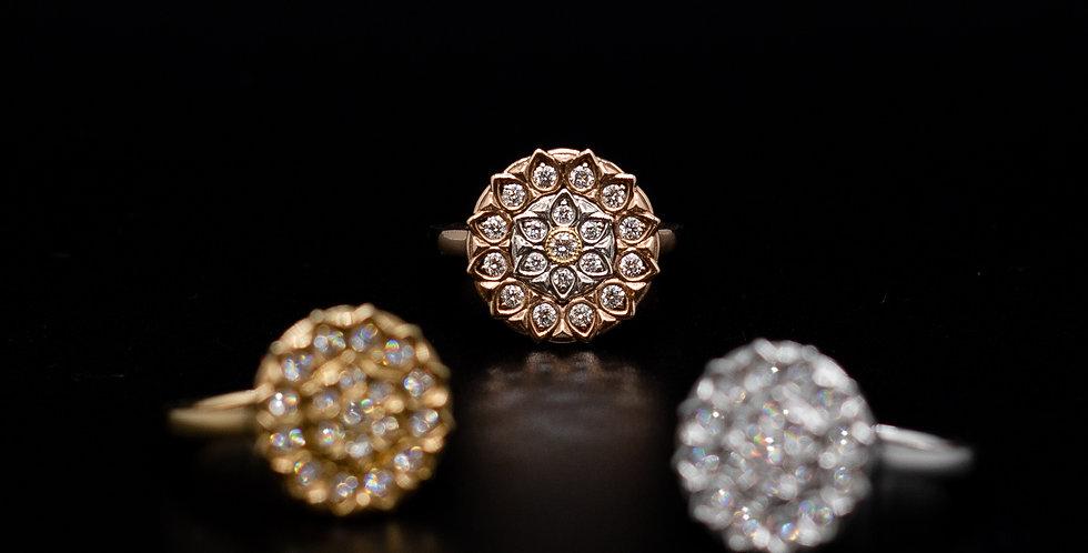 Medallion Diamond Ring