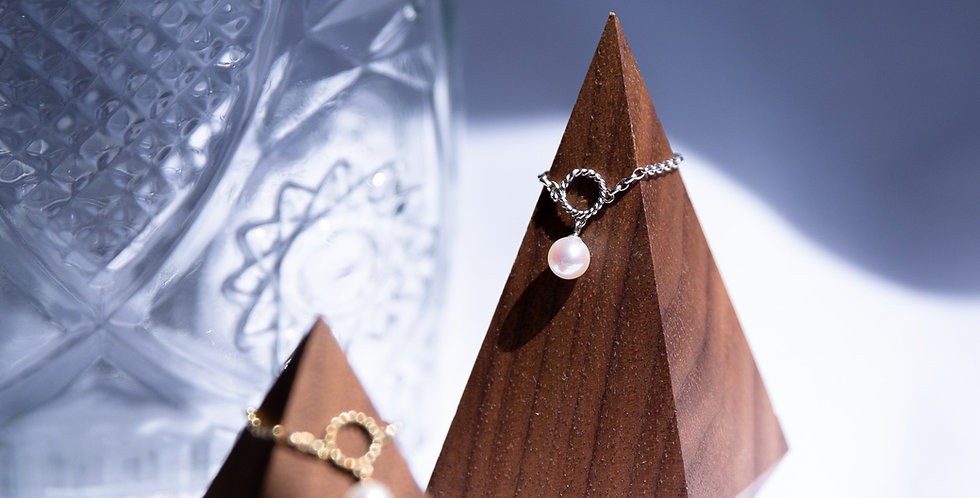 Poetic Pearl Chain Ring