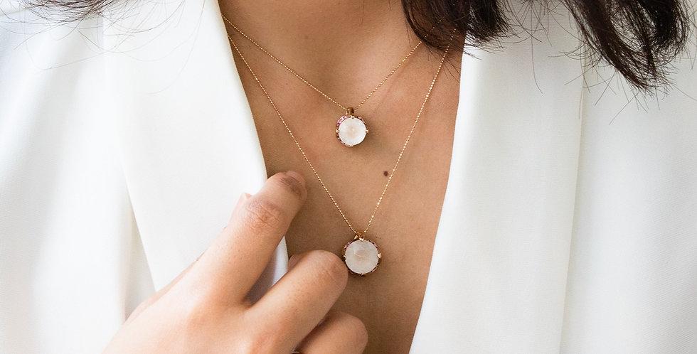 Milky Camellia Necklace