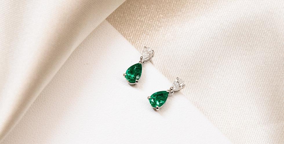 PS Earrings - Emerald