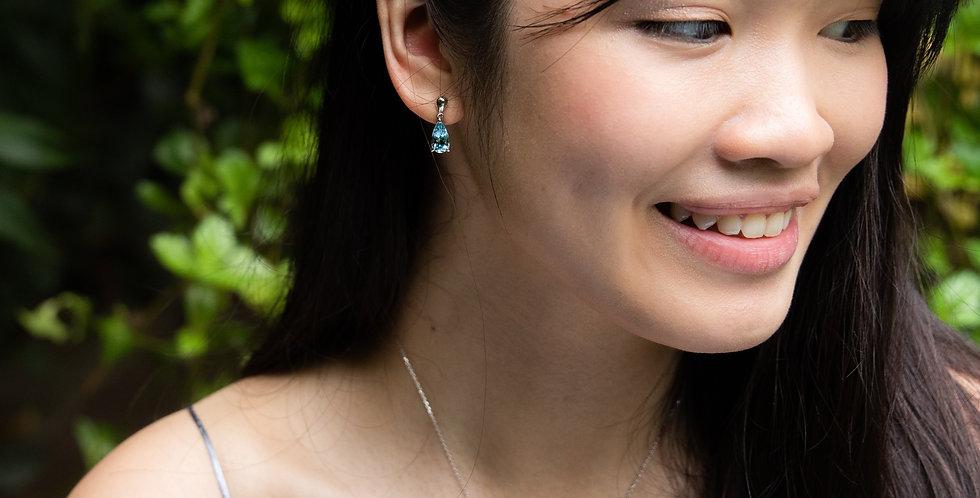 PS Earrings - Aquamarine
