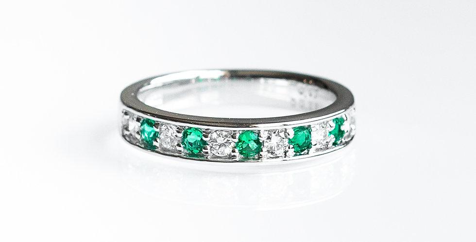 Rail Emerald Band Ring