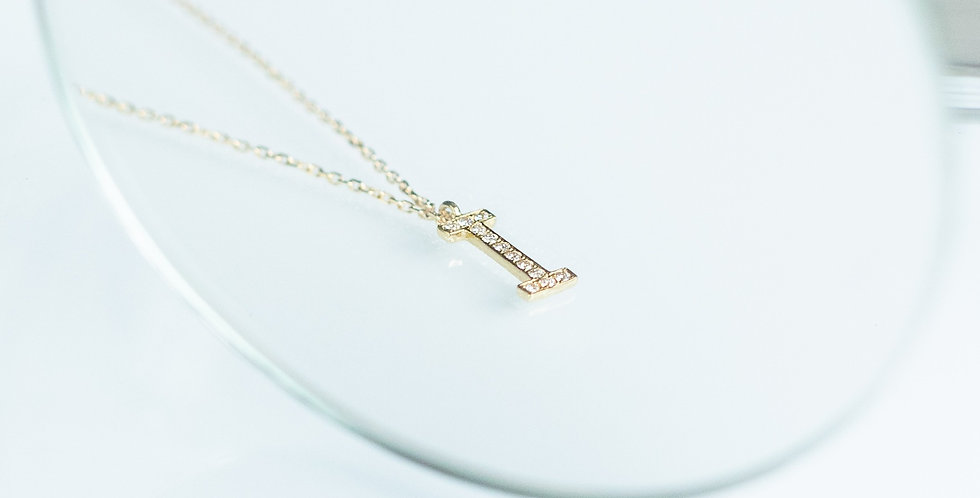 Initial Necklace - Diamond (Small)