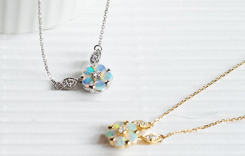 Opal Coordinate Necklace