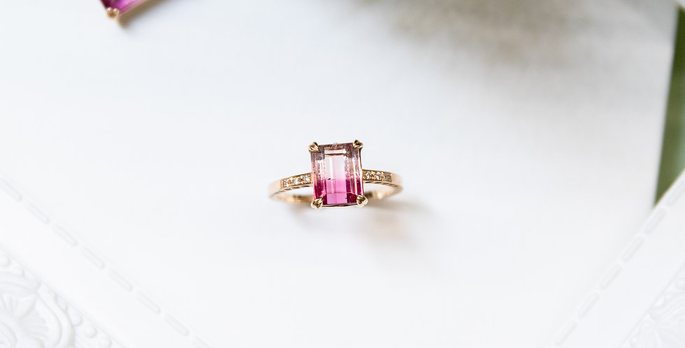 Venezia Ring -Bicolor Tourmaline