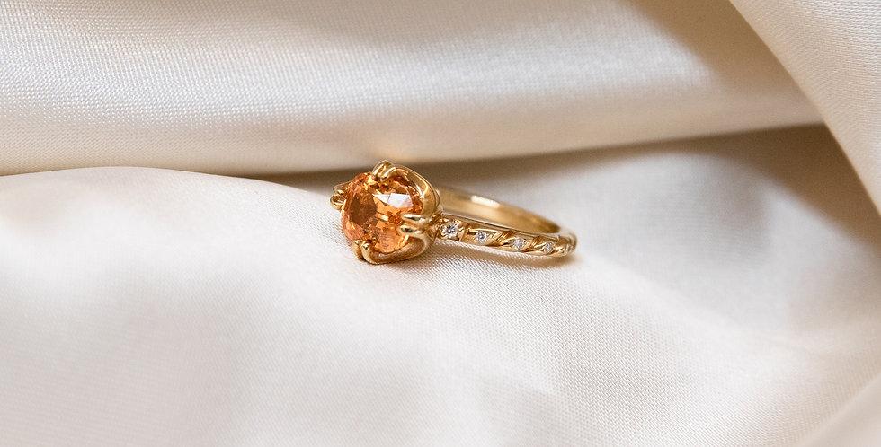 Cuscino Ring - Mandarin Garnet