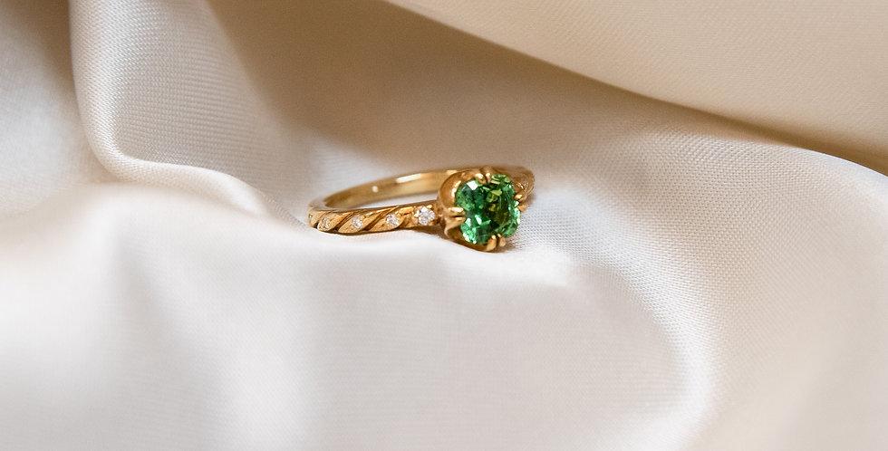 Cuscino Ring - Tsavorite Garnet