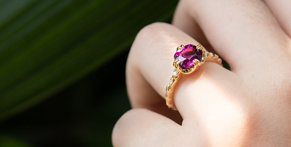 Cuscino Ring - Purple Garnet
